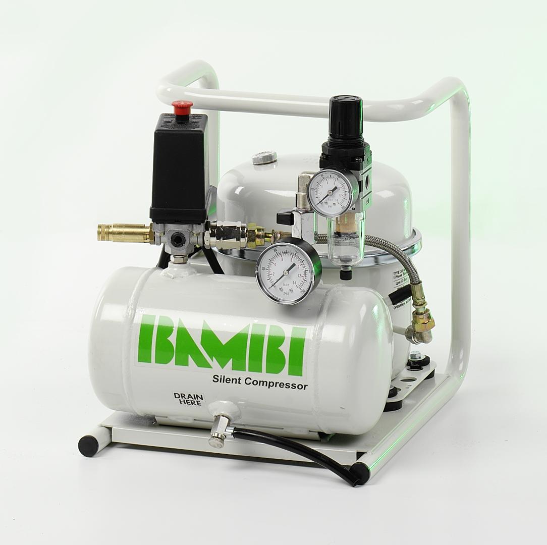 Bambi 05hp 4lt Oil Lubricated Air Compressor Dublin Ireland Compact Powder